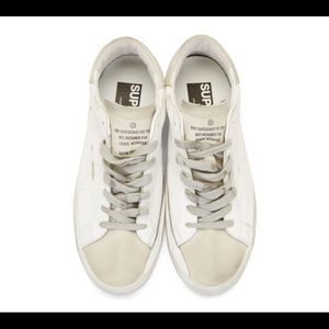 Golden Goose White Distress Sneakers